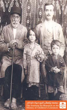موسی خان کاشی، پسرش اسحاق حانزاده و نوههایش ثریا و یعقوب، کاشان