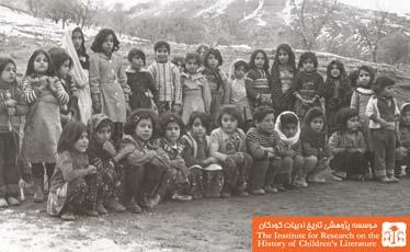 دانش آموزان دختر مدرسهی روستای دیزج علیقلی بیک هشترود