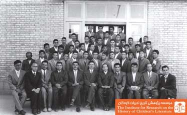 دبیران و دانش آموزان کلاس چهارم طبیعی دبیرستان دولتی شاه عباس