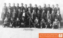 دانش آموزان کلاس اول و معلم مدرسه برهان مجرد، تهران