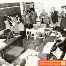 بازدید از کلاس دوم درس دستور زبان فارسی در آموزشگاه ناشنوایان
